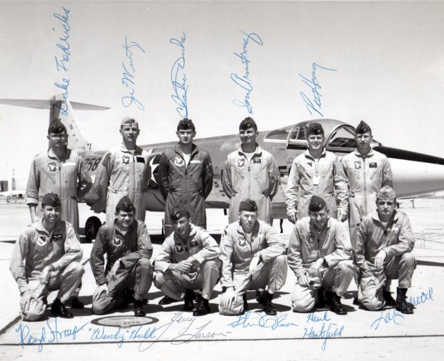 Class 64-C at the Aerospace Research Pilot School at Edwards Air Force Base included four future astronauts – Charlie Duke, Hank Hartsfield, Stu Roosa and myself.