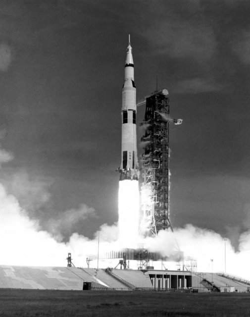 The launch of Apollo 15.