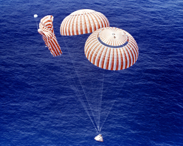 The heart stopping moment of parachute failure as we neared splashdown.