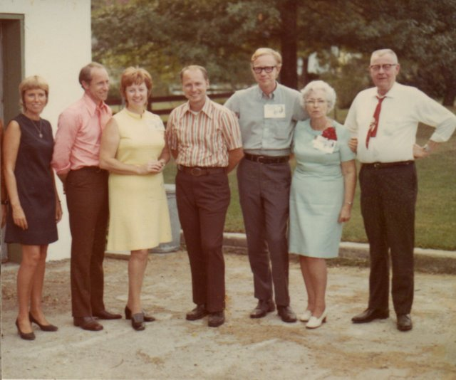 With my parents, sisters and two of my brothers in September 1971.