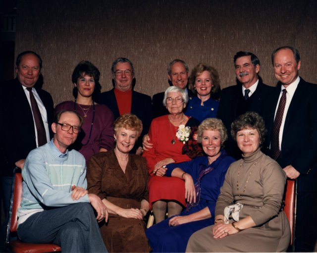 With my wife Jill, my mother, my siblings and their spouses.