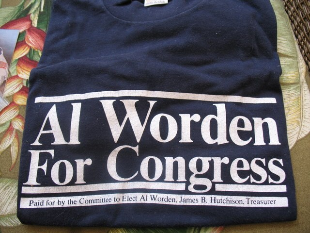 A T-shirt from my Congressional run.