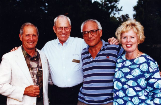With my wife Jill, Farouk El-Baz and fellow Apollo astronaut Bill Anders in 1994.
