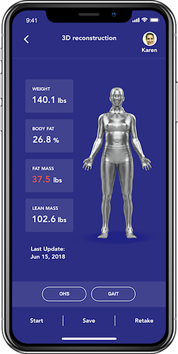 UNDERSTAND YOUR BODY - BodyElevated's app captures your body and calculates key metrics such as weight, body fat, and lean mass. Your data is securely stored for future comparison and progress tracking.