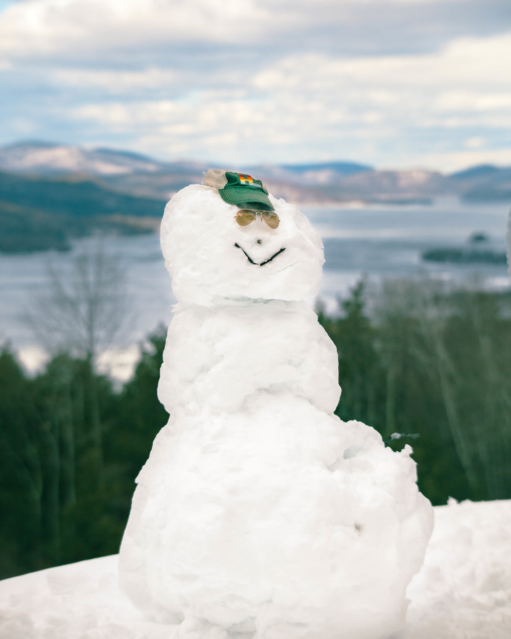Our awesome snowman!!