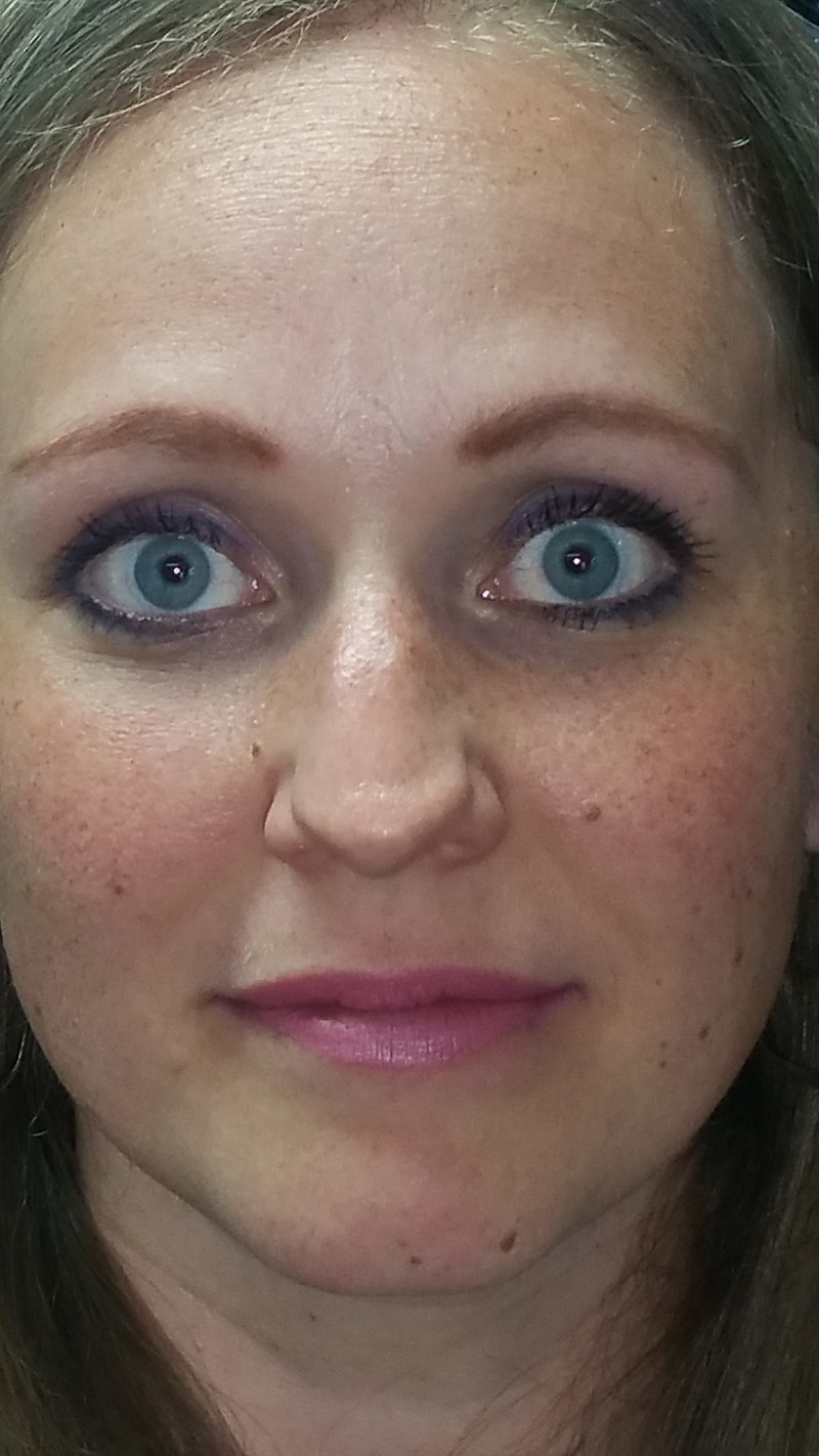This is a new client that came to me for eyebrows. This picture is how she drew her brows on.