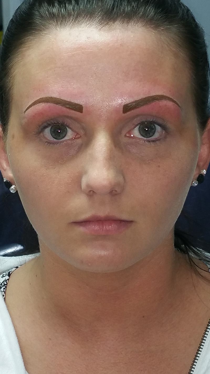 A few years later we updated the shape & thickness of her eyebrows.