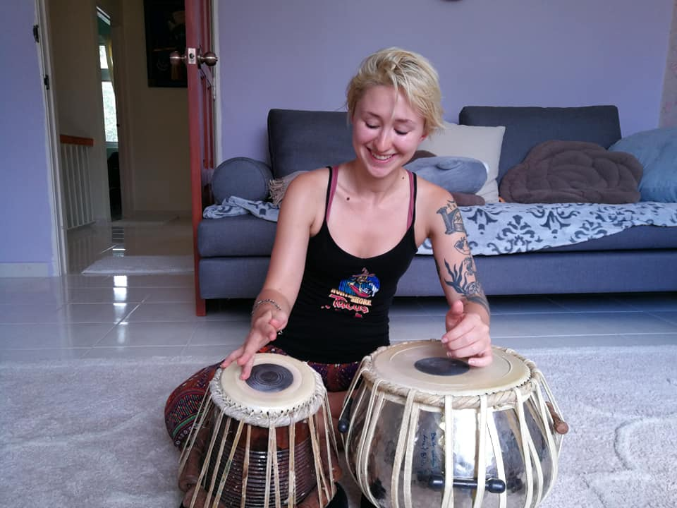 Sweaty, sunburnt, and feeling grateful… - for the warmth and spontaneity of this moment in Penang, Malaysia when the universe dropped new friends and impromptu drumming lessons in my lap during a depressive cycle.