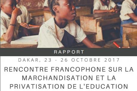 Recontre francophoneréunion régionale - Rapport sommaireDakar, Octobre 23-26, 2017