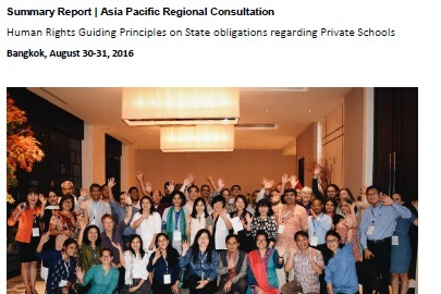 Asia Pacific Regional consultation - Summary ReportBangkok, August 30-31, 2016