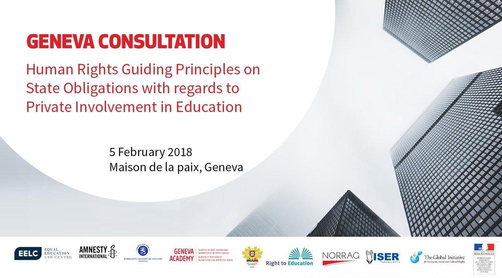 North America and Europe regional consultation - Summary reportGeneva, February 5, 2018