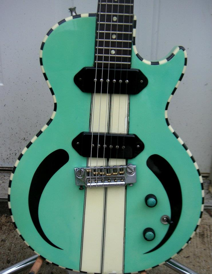 1990 prototype model used in the design of the Reverend Rick Vito Signature guitar of 2011