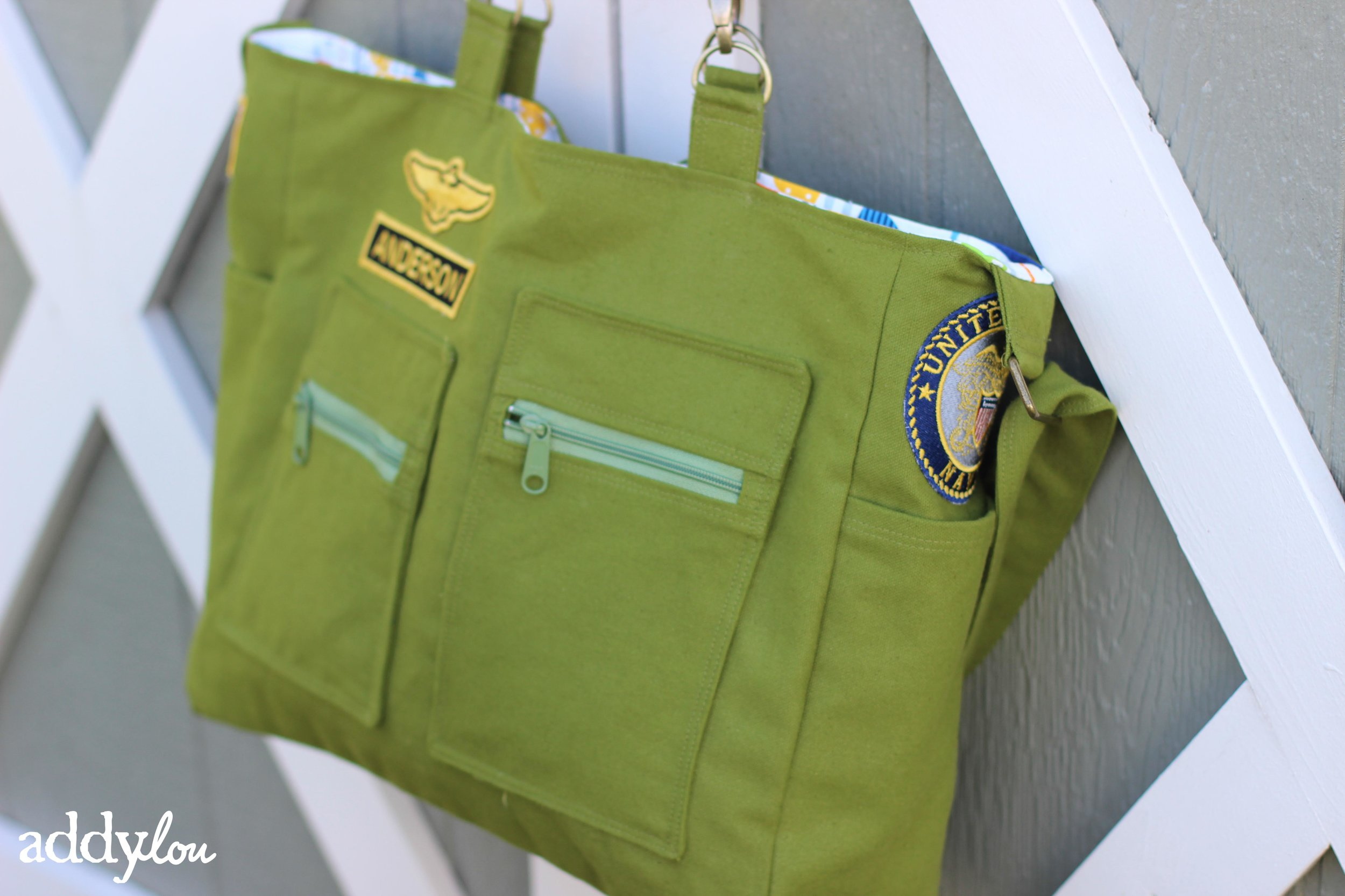 Military Diaper Bag | AddyLou Creates