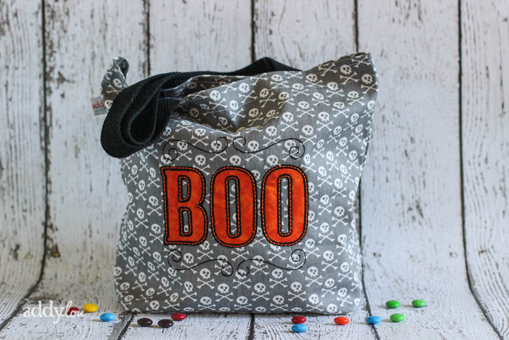 AddyLou Creates - Trick-or-Treat bags | Boo & Skulls 1