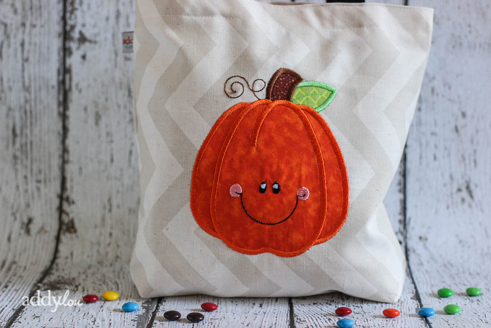 AddyLou Creates - Trick-or-Treat bags | Happy Pumpkin