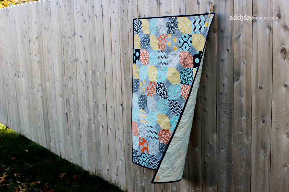 AddyLou Creates | Scattered Petals Baby Quilt
