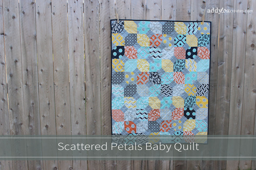 AddyLou Creates |Scattered Petals Baby Quilt
