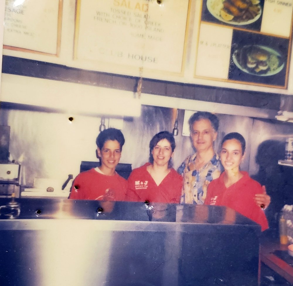 PICTURED HERE IN 1993, FROM LEFT TO RIGHT: GEORGE, TOULA, EVANGELOS AND BESSIE STROUMBOULIS.