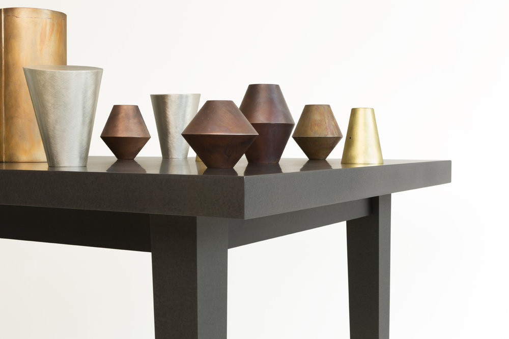 Juliette Bigley, TABLE (detail), mixed metals and Richlite, 2.5m x 1.2m x 1.6m, 2018.JPG