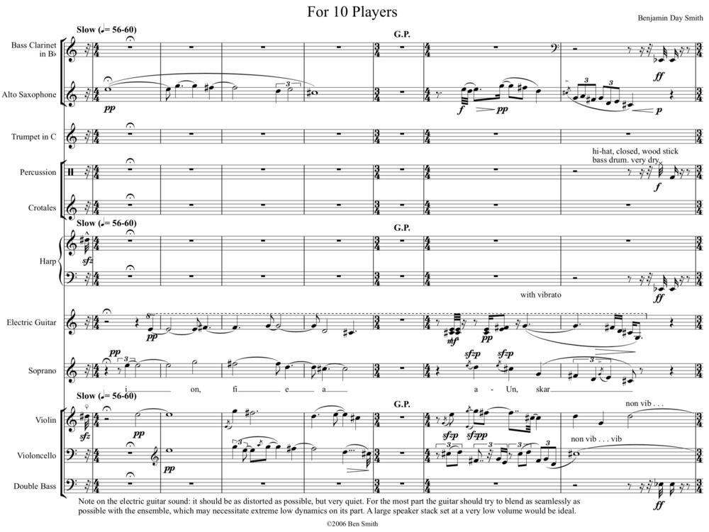 Score, page 1.