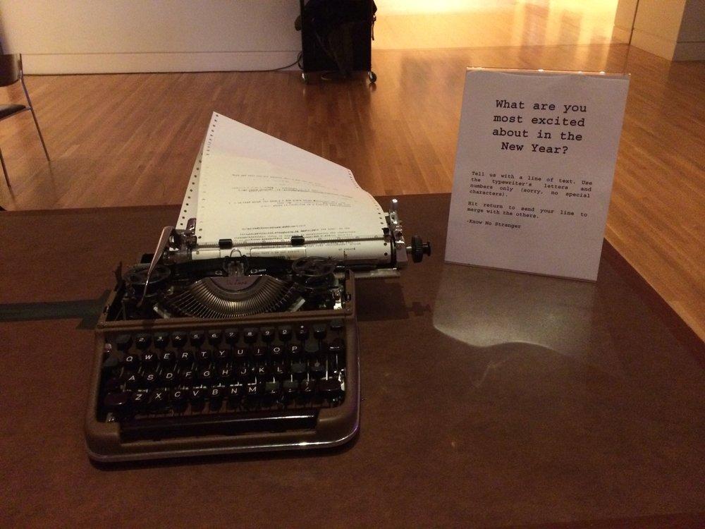 Typewriter NYE