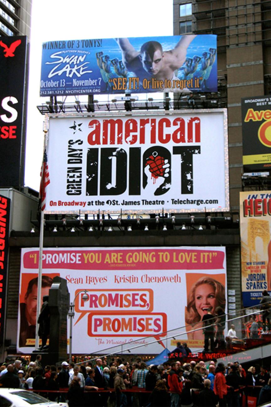 Swan Lake – Times Square billboard