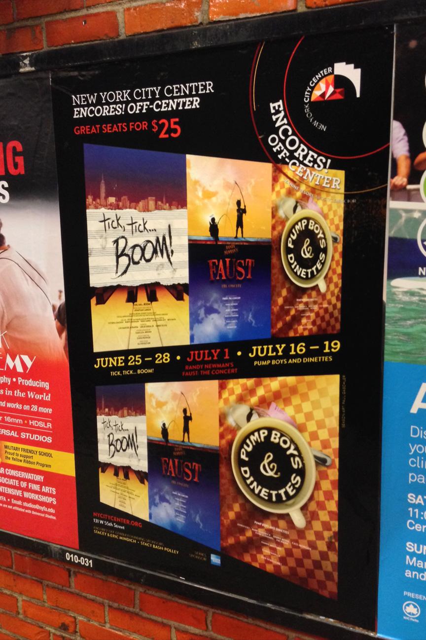 Encores! Off-Center Subway Ads
