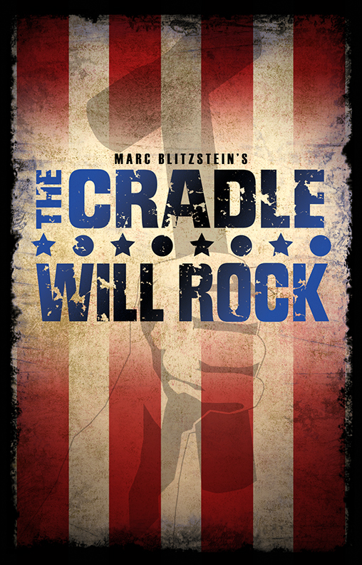 Marc Blitzstein's The Cradle Will Rock   (New York City Center, 2013)  After I read about Marc Blitzstein's first production of  Cradle , I knew what I needed to capture with the art. Thankfully, a few ideas came to me instantly and happily, my favorite one was chosen.  One of my fondest memories from this show is when I met Raúl Esparza back stage and he complimented me on the art. I've been a fan of his since seeing his performance in  Cabaret  (2001).