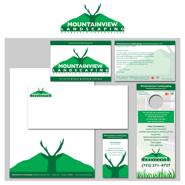 Mountainview Landscaping Branding