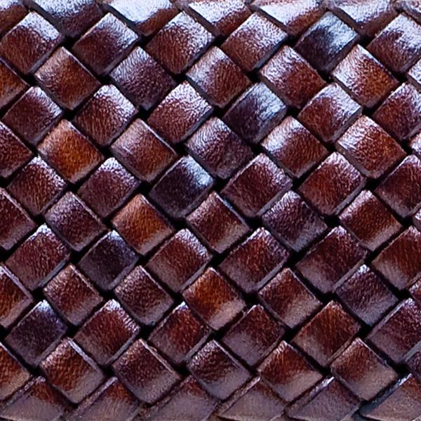 Brown Weave Leather Grip