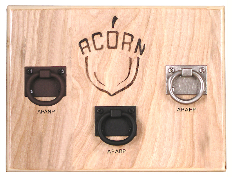 Hardware is available in Russet (rust-like finish), Black, or Brushed Nickel, where applicable.