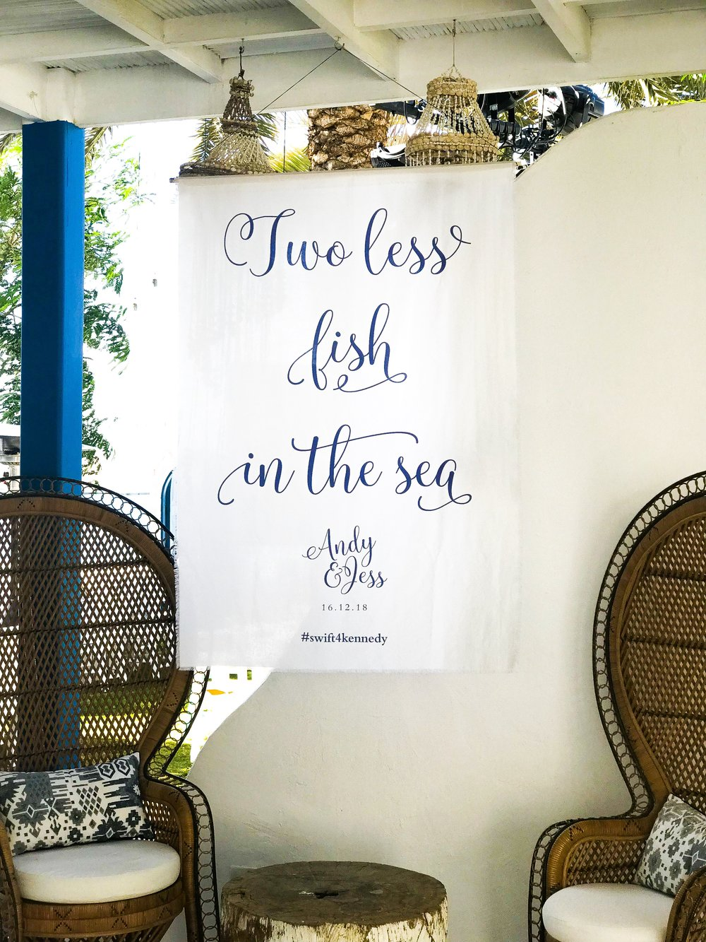 One of our beautiful fabric quote banners