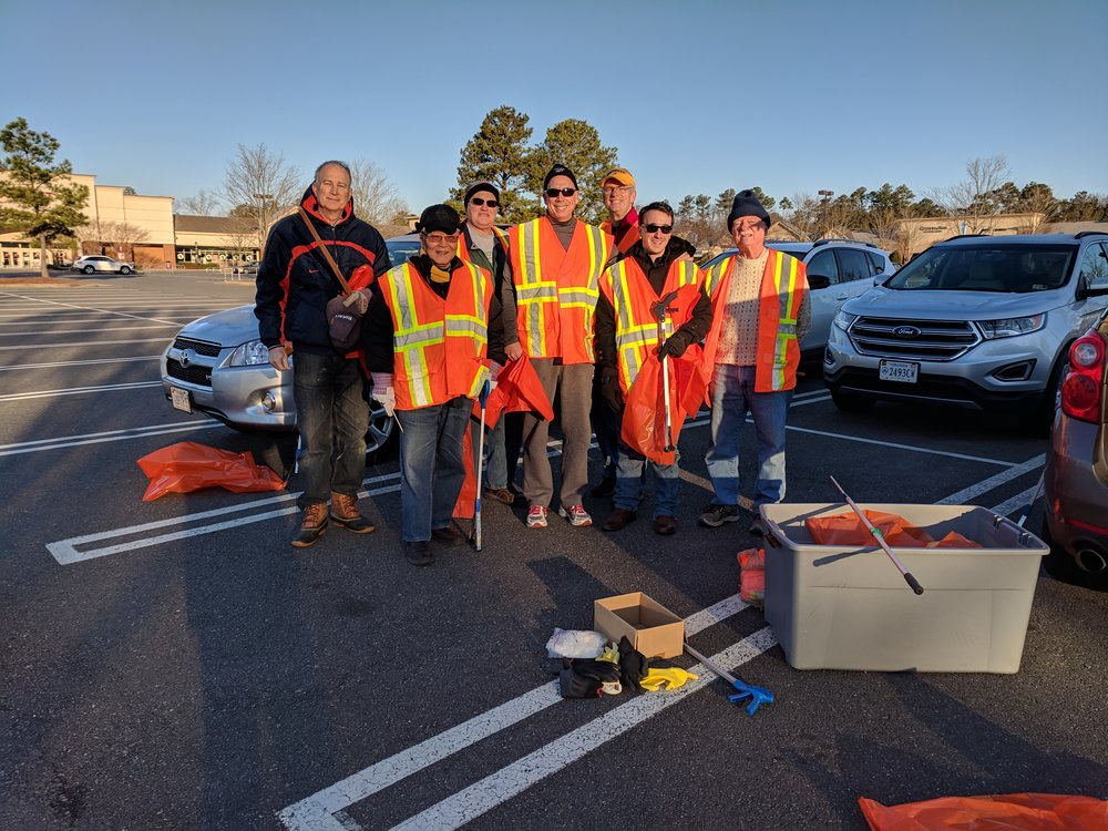 highway cleanup - Our members getting ready on a Saturday morning to cleanup our stretch of Rt 199.