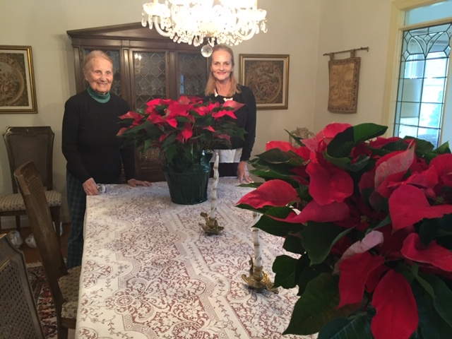 poinsettia project - Two happy poinsettia customers!