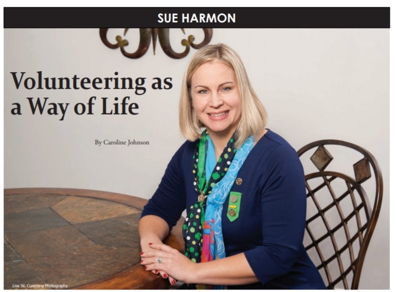 volunteering - President-Elect Sue Harmon was featured as a Lifelong Volunteer on page 28 of February'sNext Door Neighbor Magazine.