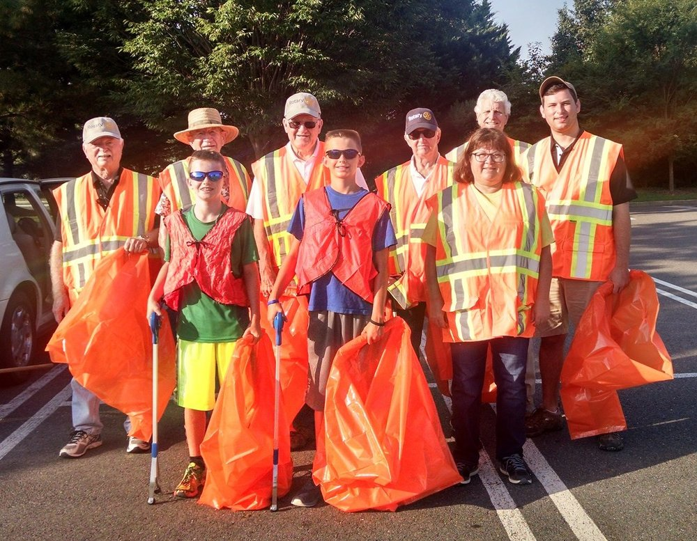 highway cleanup - Ready to gather trash on 199!