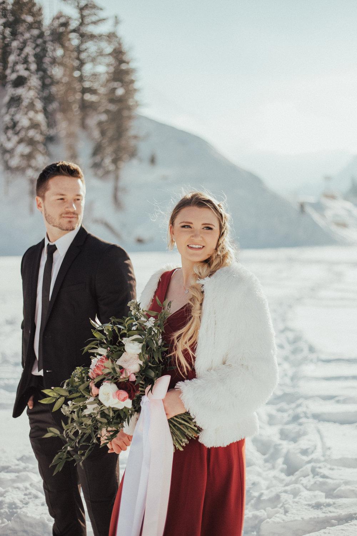 Romantic valentine's couple shoot red dress Utah wedding photographer