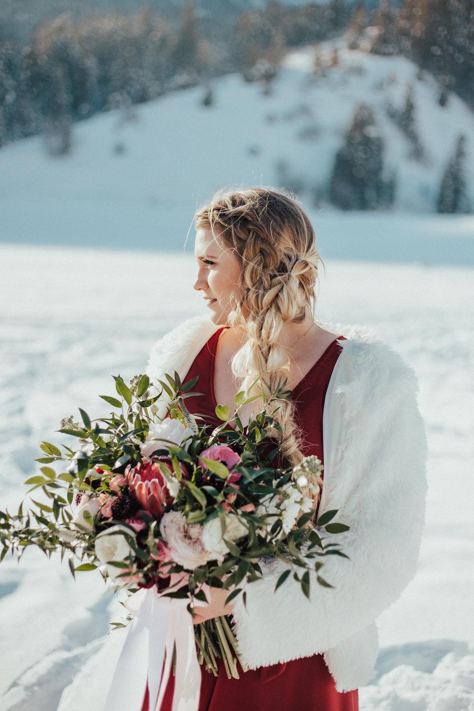 Romantic Valentine's couple shoot elegant braid Utah wedding photographer
