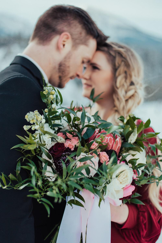 Valentine's red bouquet florals Utah wedding photographer