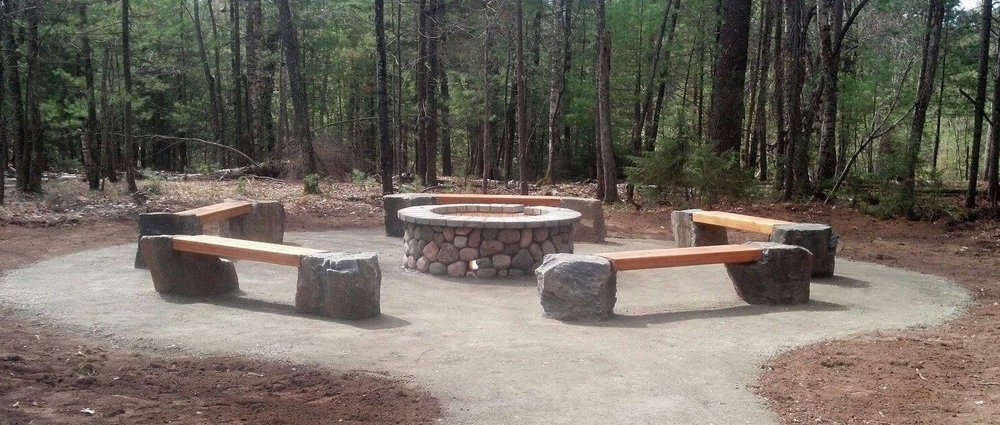 Circle of Life gathering area & firepit
