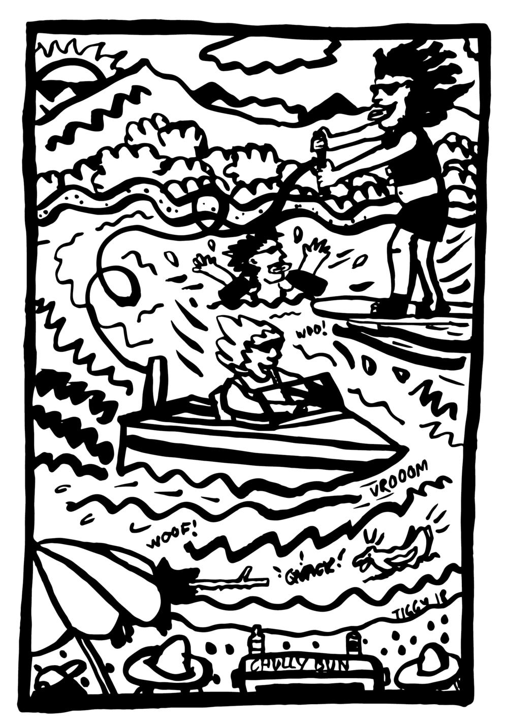 'Lake Wanaka Summer' custom artwork – private client.