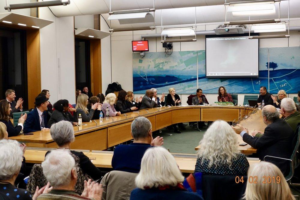 Copy of Copy of Copy of Copy of Copy of 20 Anniversary UN United Nations Anne Frank Declaration Kaifeng Jews Matter Kaifengjewsmatter UK Parliament Westminster Helen Grant MP