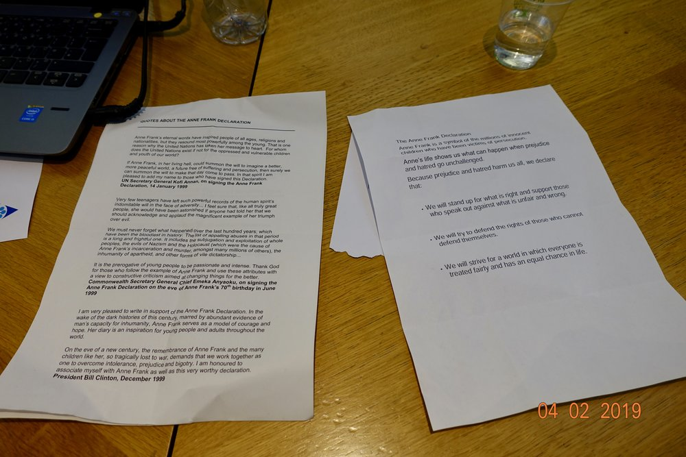 Copy of Copy of Copy of Copy of Copy of 20 Anniversary UN United Nations Anne Frank Declaration Quotes Kaifeng Jews Matter Kaifengjewsmatter UK Parliament Westminster Helen Grant MP