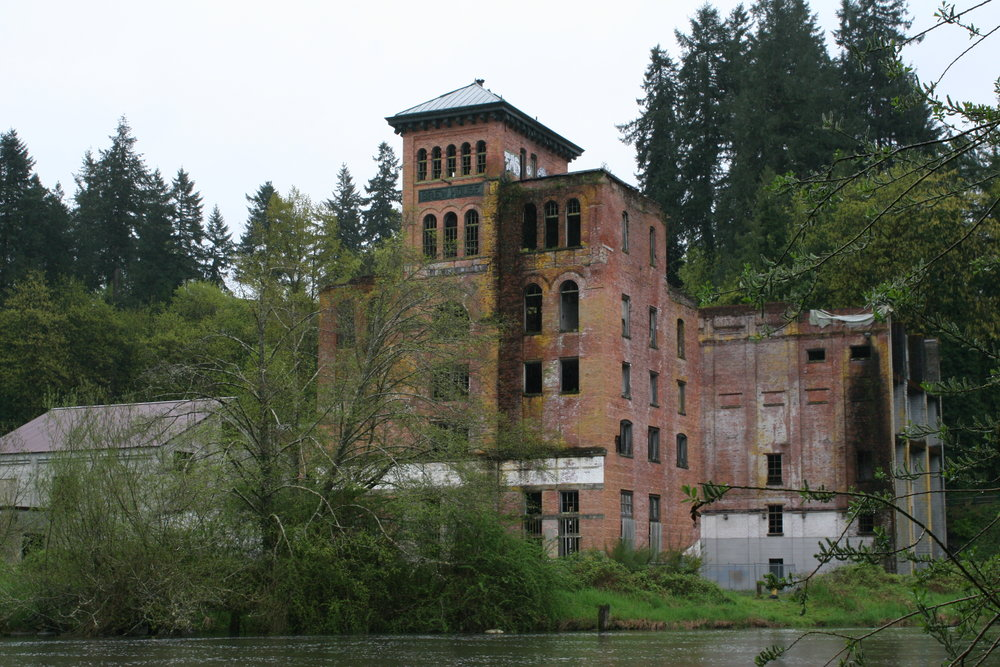 The old brick brewhouse built in 1905. The city of Tumwater now owns it. They've taken steps to preserve the building until further plans are made.