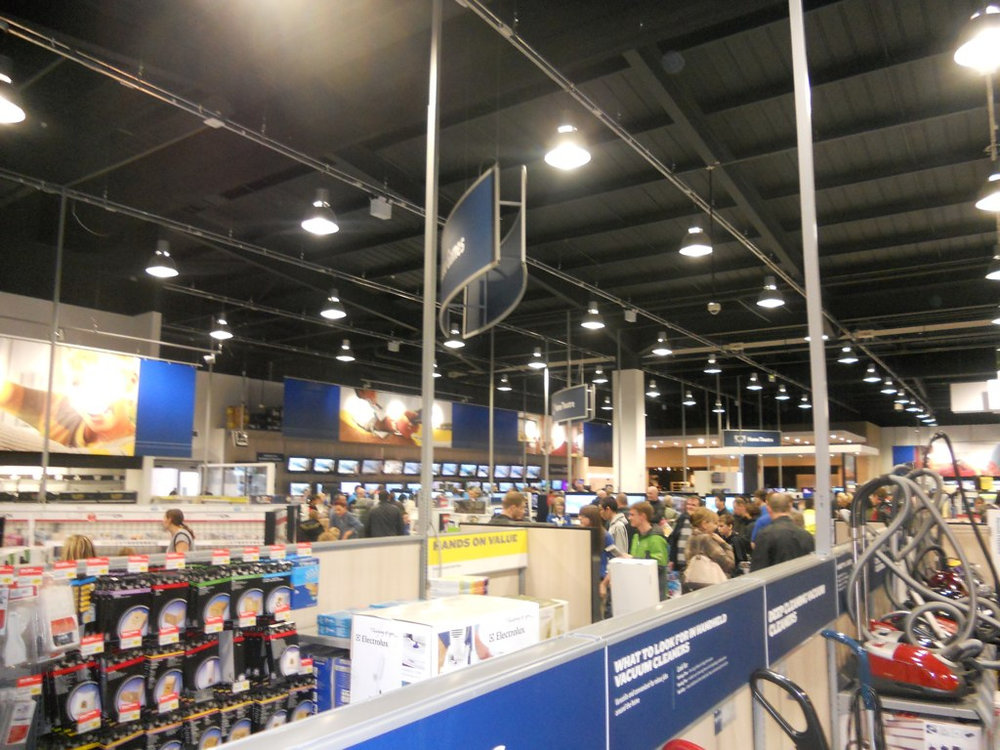 Big brick-and-mortar retailers like Best Buy have suffered in recent years due to online competition from sites such as Amazon, which have lower overhead and offer broader product choices.