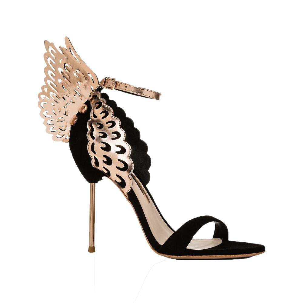 Sophia Webster Black Suede Evangeline Sandals1.jpg