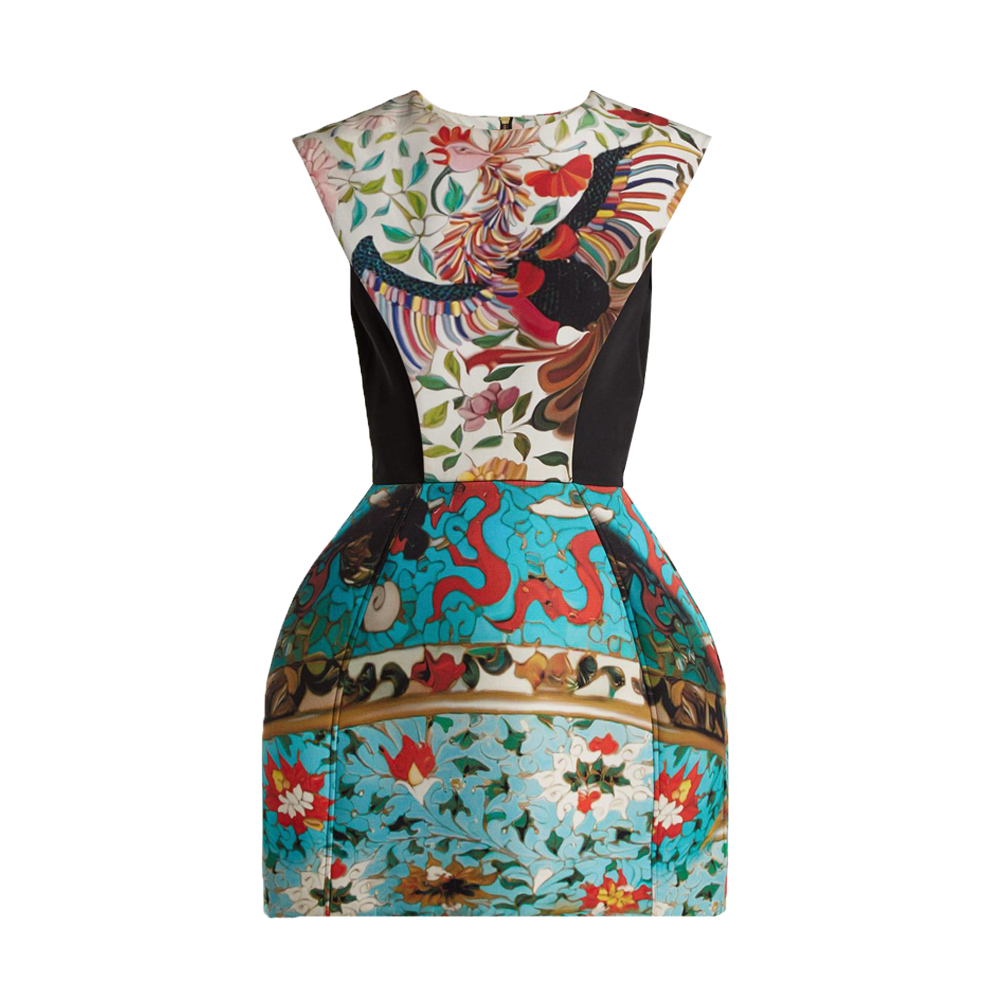 Mary Katrantzou Rooster Floral Print Dress1.jpg