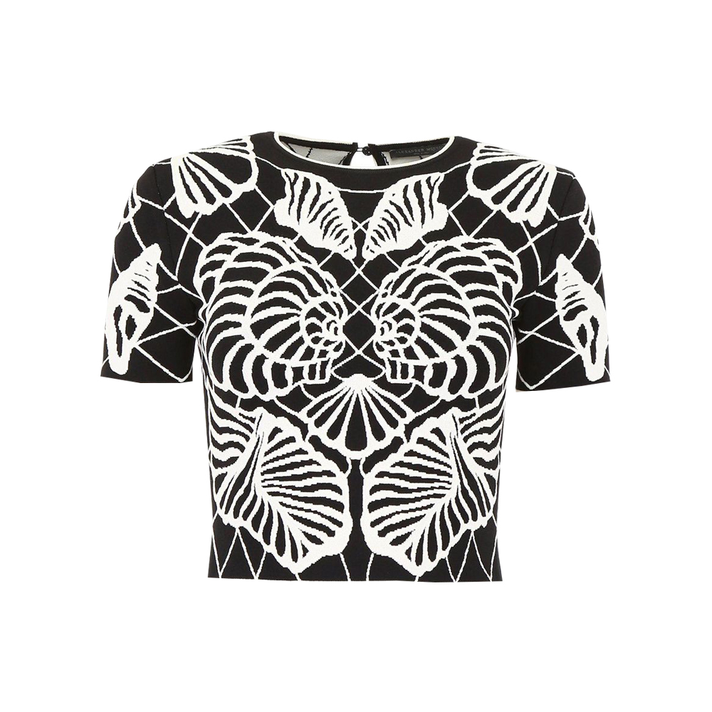 Alexander McQueen Black Spine Shell Top.jpg