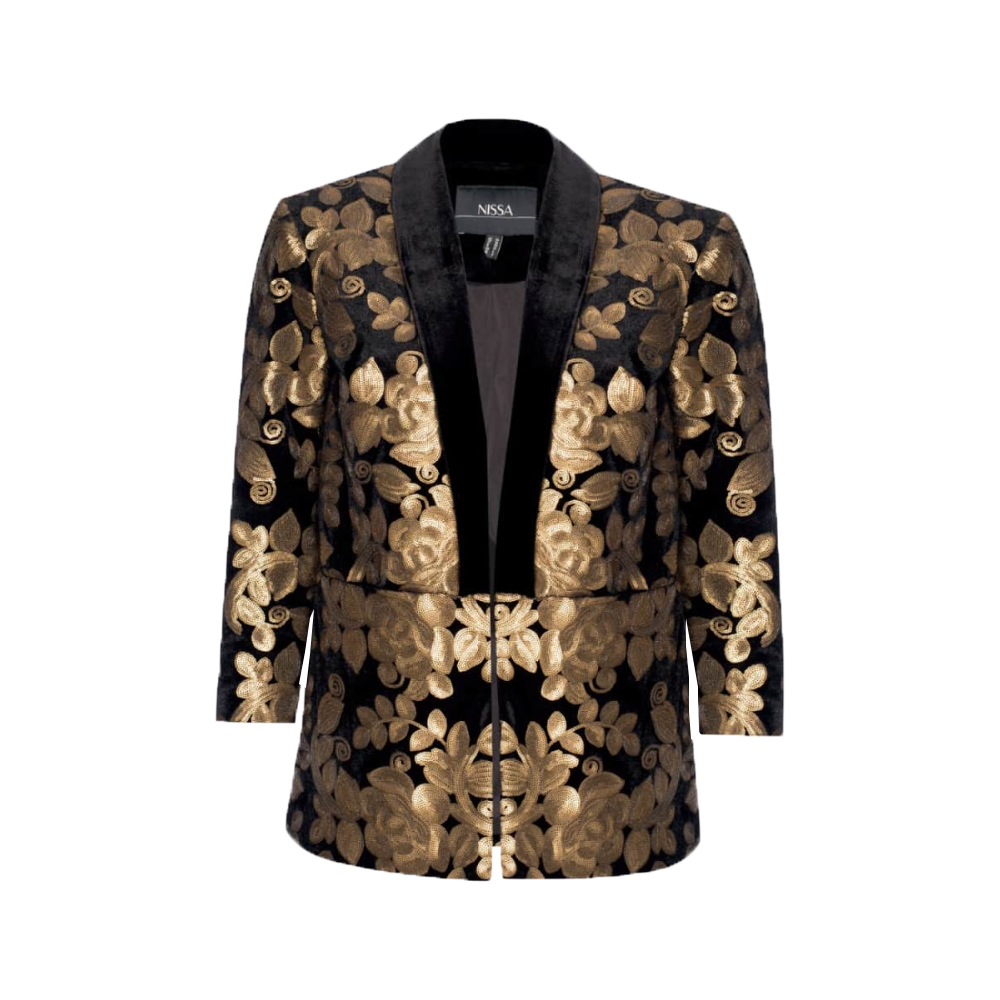 Nissa Elegant Blazer with Gold Sequins1.jpg