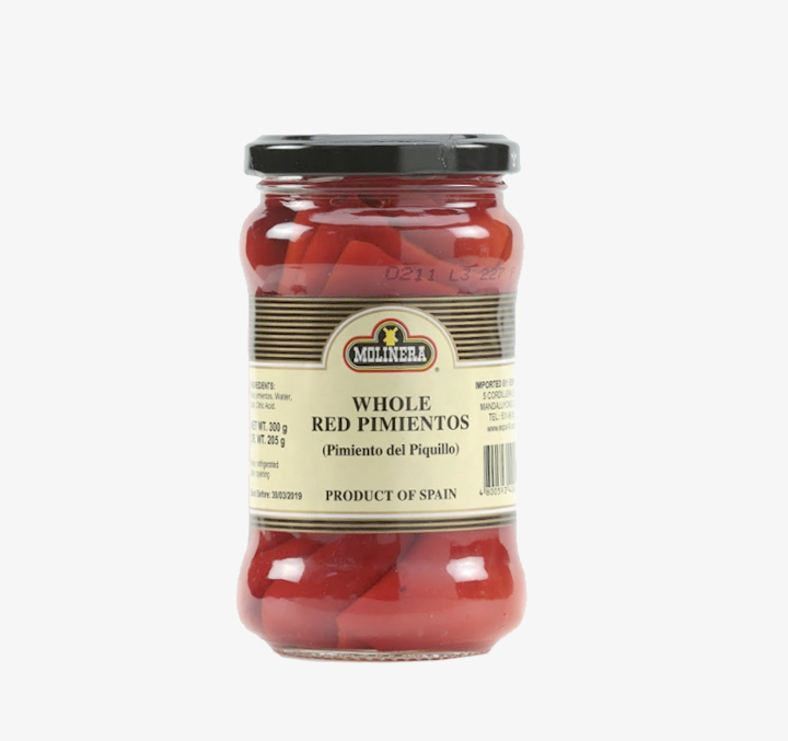Whole Red Pimiento (Pimiento del Piquillo) - Size Availability: 300g